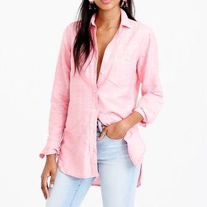 8 J. Crew Cotton-Linen Boy Shirt in Pink